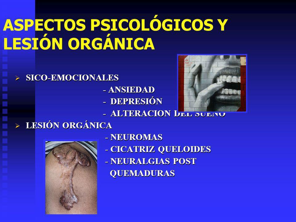 ASPECTOS PSICOLÓGICOS Y LESIÓN ORGÁNICA