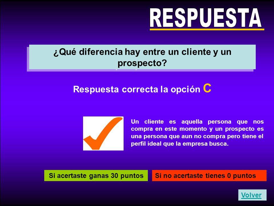 RESPUESTA ¿Qué diferencia hay entre un cliente y un prospecto