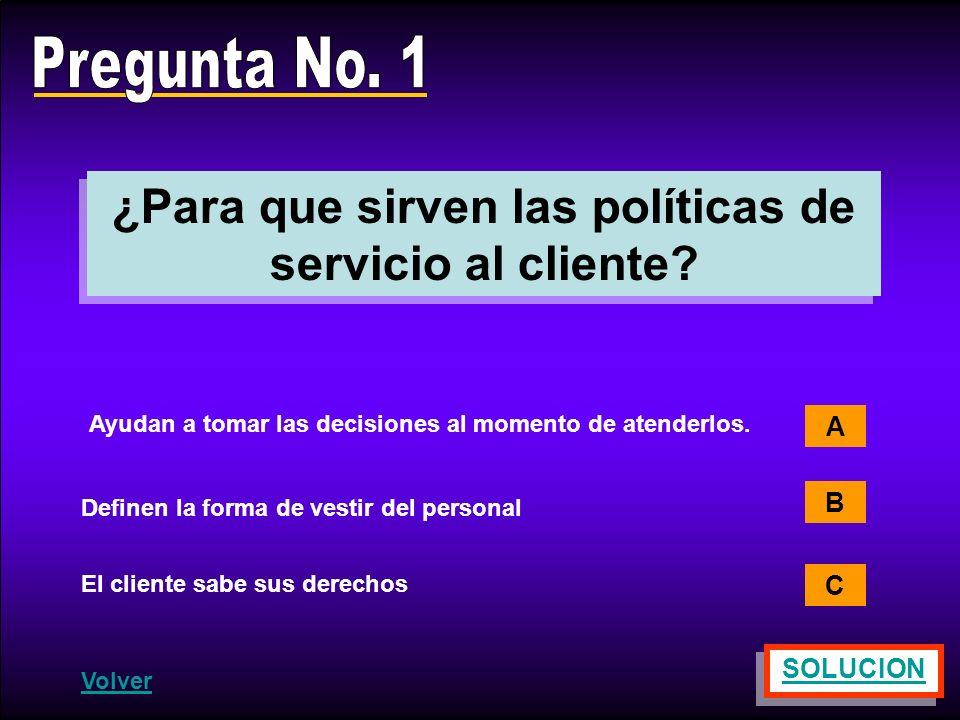 ¿Para que sirven las políticas de servicio al cliente