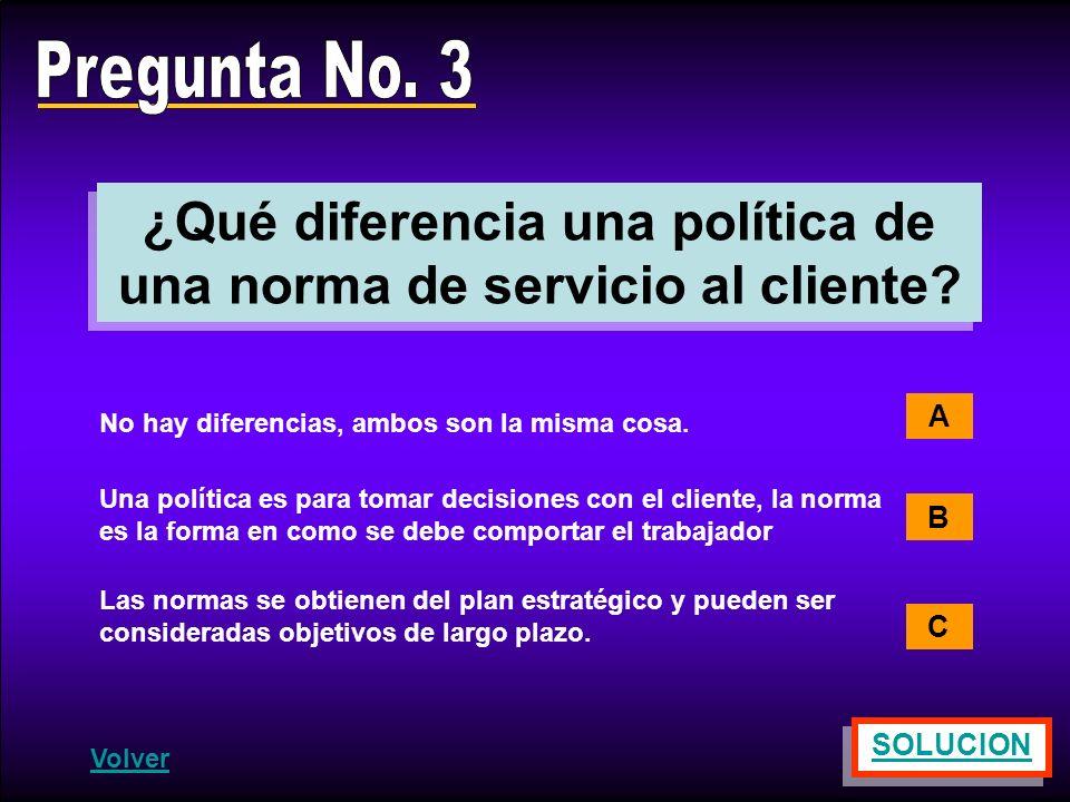 ¿Qué diferencia una política de una norma de servicio al cliente