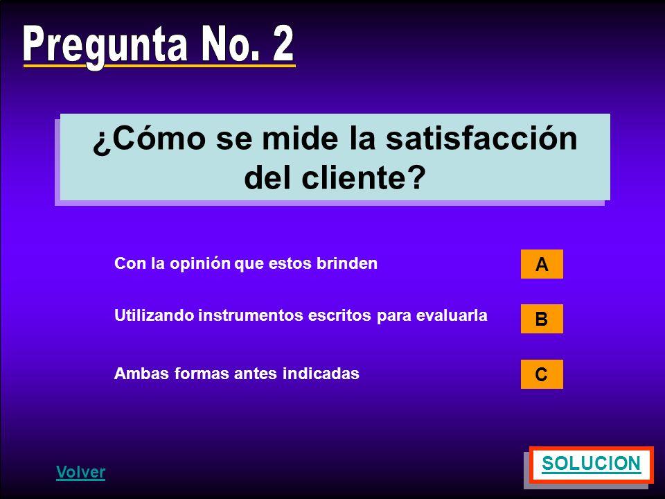 ¿Cómo se mide la satisfacción del cliente
