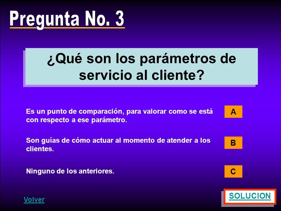 ¿Qué son los parámetros de servicio al cliente
