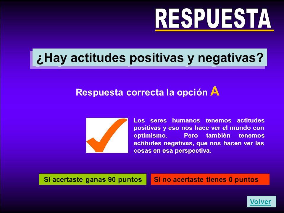 RESPUESTA ¿Hay actitudes positivas y negativas