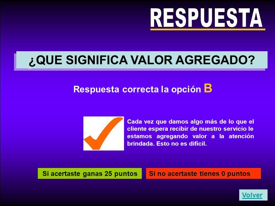 RESPUESTA ¿QUE SIGNIFICA VALOR AGREGADO