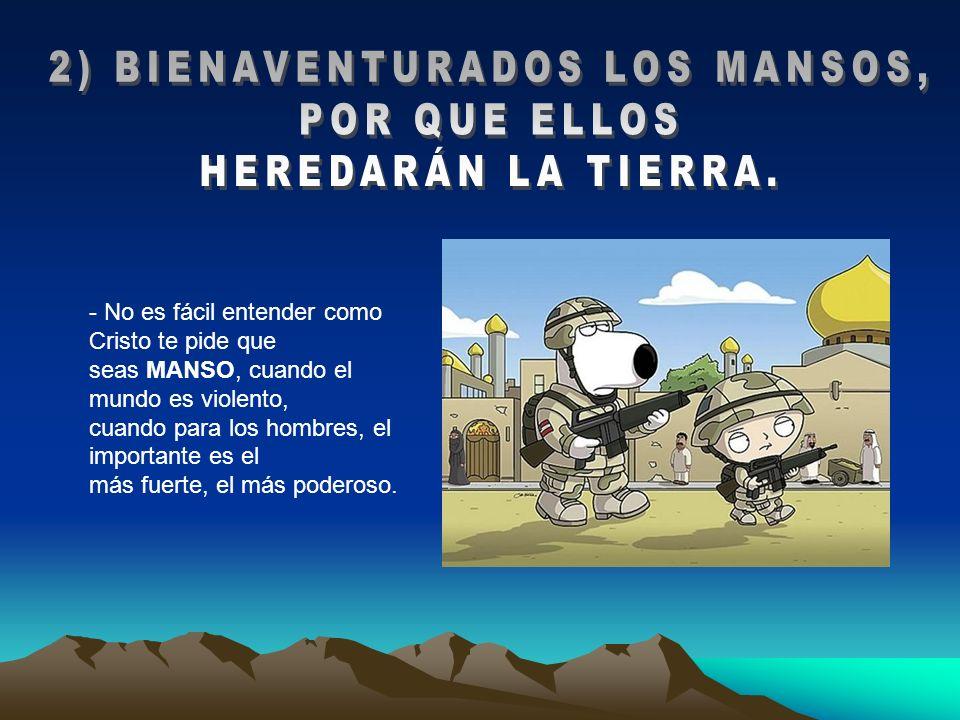2) BIENAVENTURADOS LOS MANSOS,