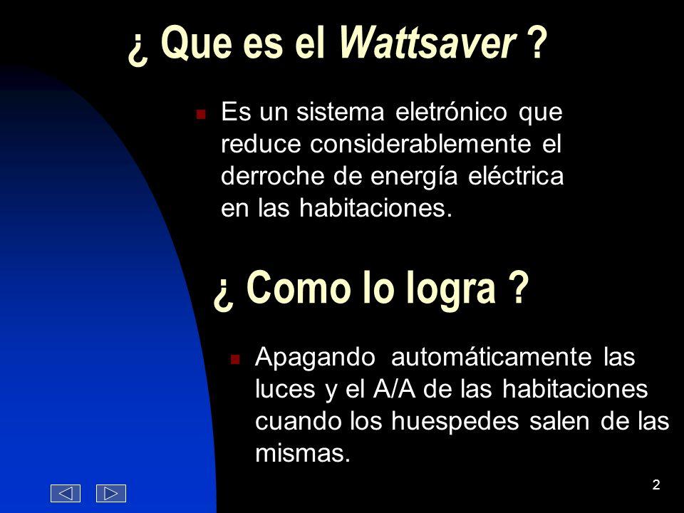 ¿ Que es el Wattsaver ¿ Como lo logra