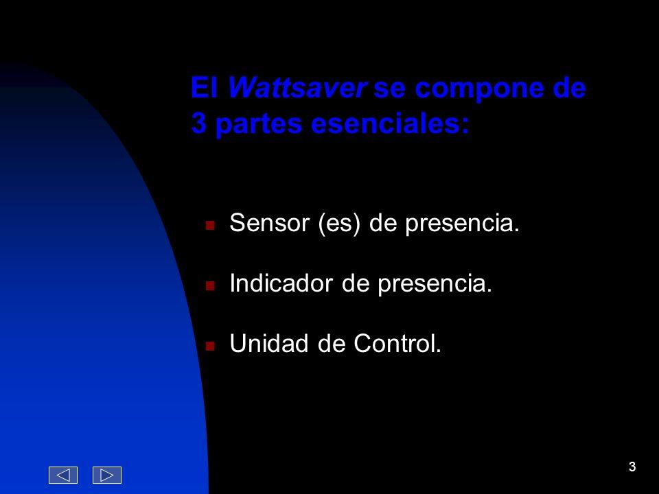 El Wattsaver se compone de 3 partes esenciales: