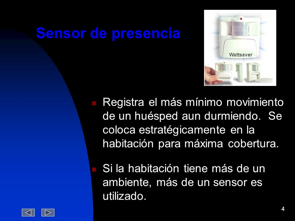 Wattsaver Sensor de presencia.