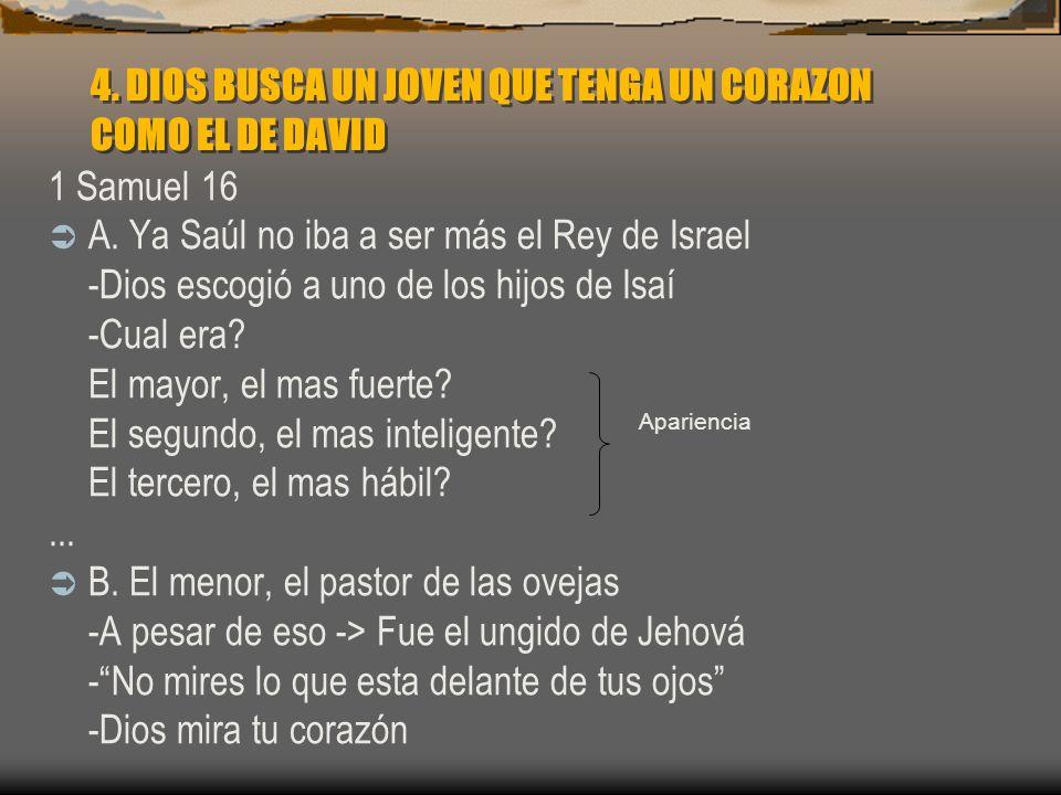 4. DIOS BUSCA UN JOVEN QUE TENGA UN CORAZON COMO EL DE DAVID