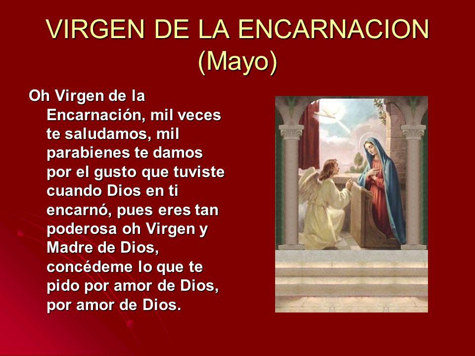 VIRGEN DE LA ENCARNACION (Mayo)