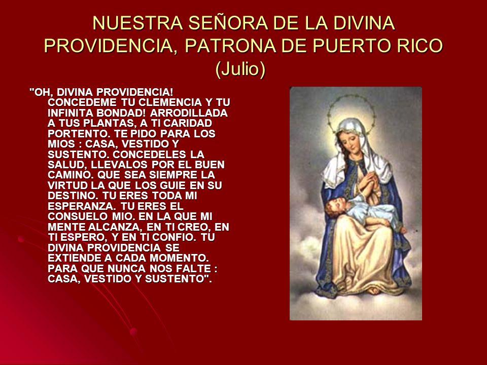 NUESTRA SEÑORA DE LA DIVINA PROVIDENCIA, PATRONA DE PUERTO RICO (Julio)