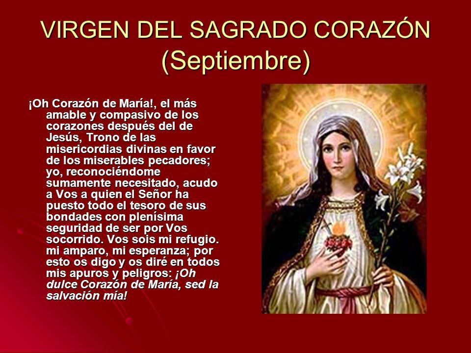 VIRGEN DEL SAGRADO CORAZÓN (Septiembre)
