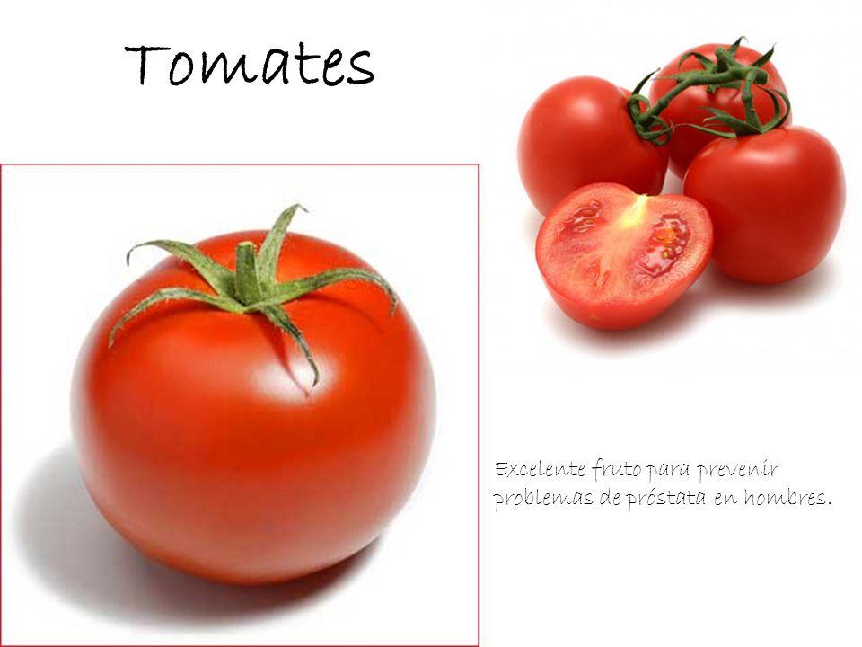 Tomates Excelente fruto para prevenir problemas de próstata en hombres.