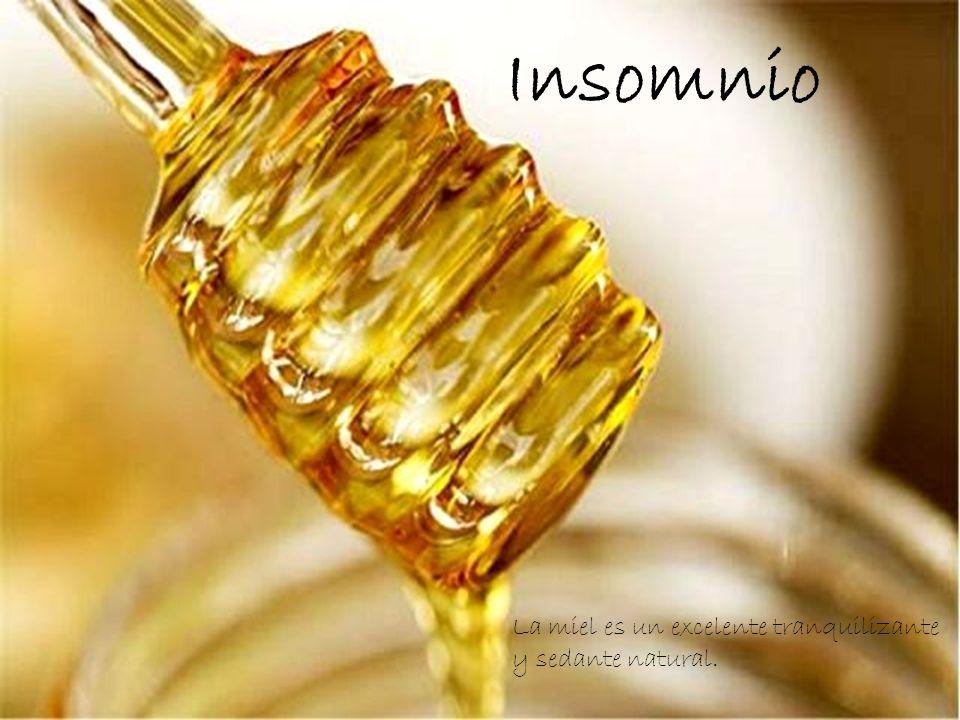 Insomnio La miel es un excelente tranquilizante y sedante natural.