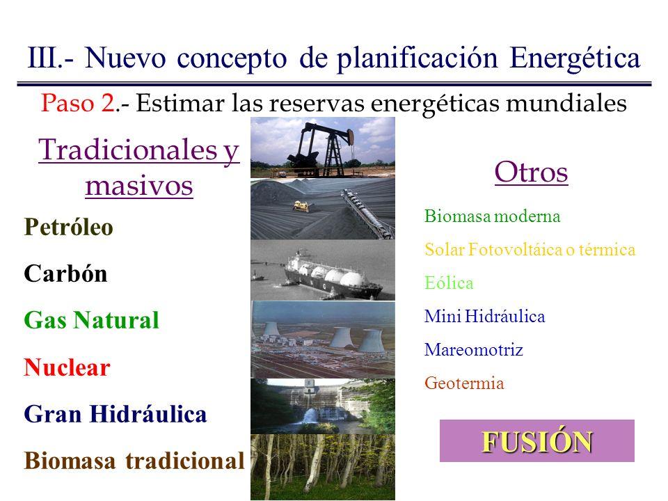 III.- Nuevo concepto de planificación Energética