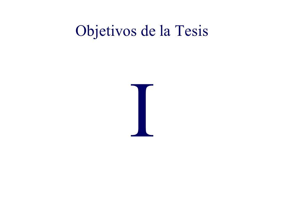 Objetivos de la Tesis I Objetivos de la Tesis