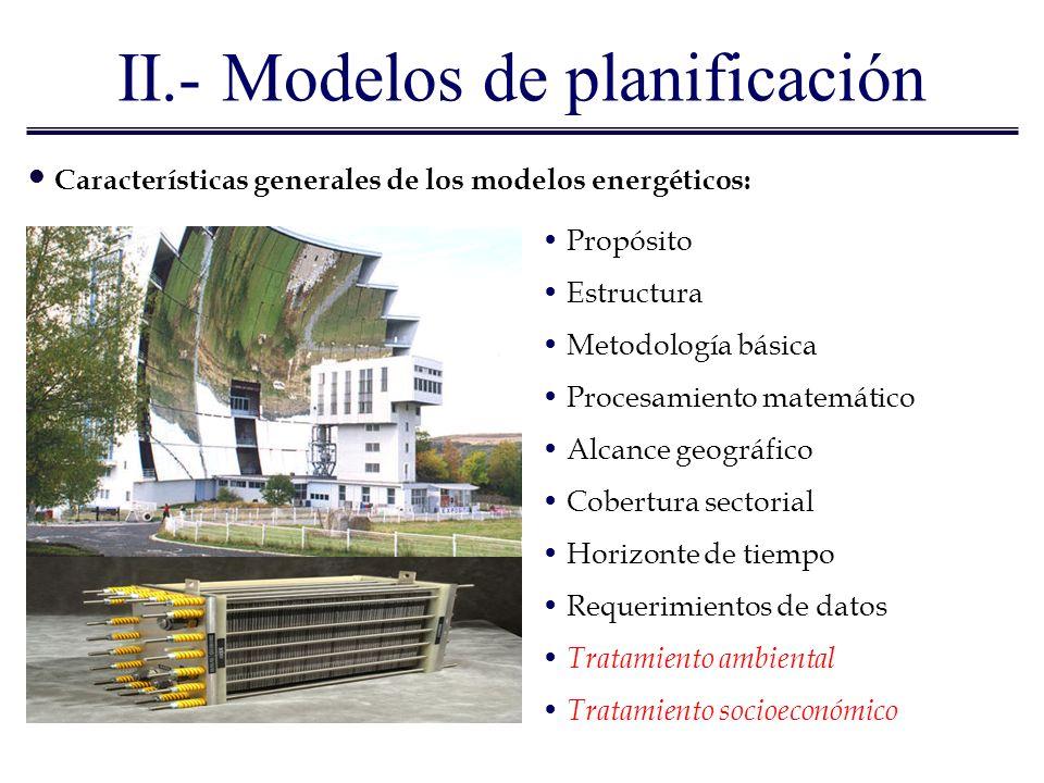 II.- Modelos de planificación