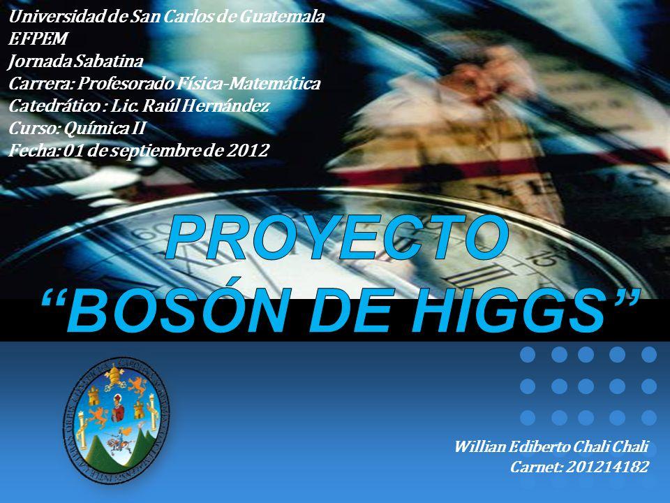 PROYECTO BOSÓN DE HIGGS
