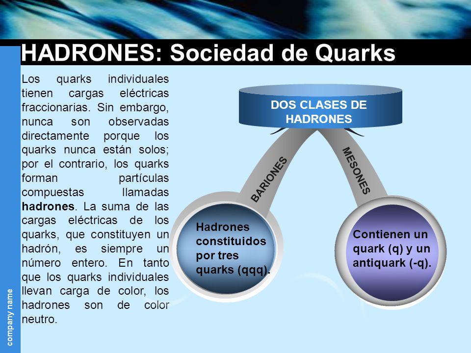 HADRONES: Sociedad de Quarks