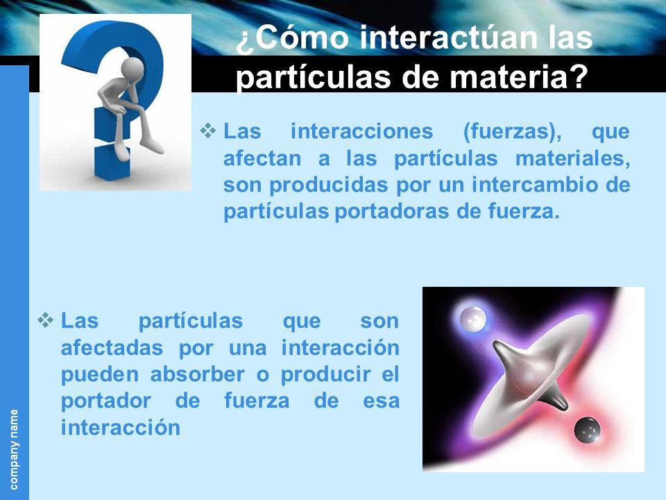 ¿Cómo interactúan las partículas de materia