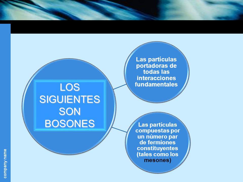 LOS SIGUIENTES SON BOSONES