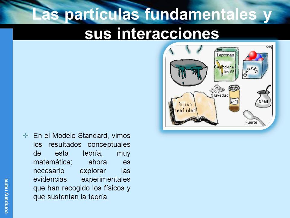 Las partículas fundamentales y sus interacciones