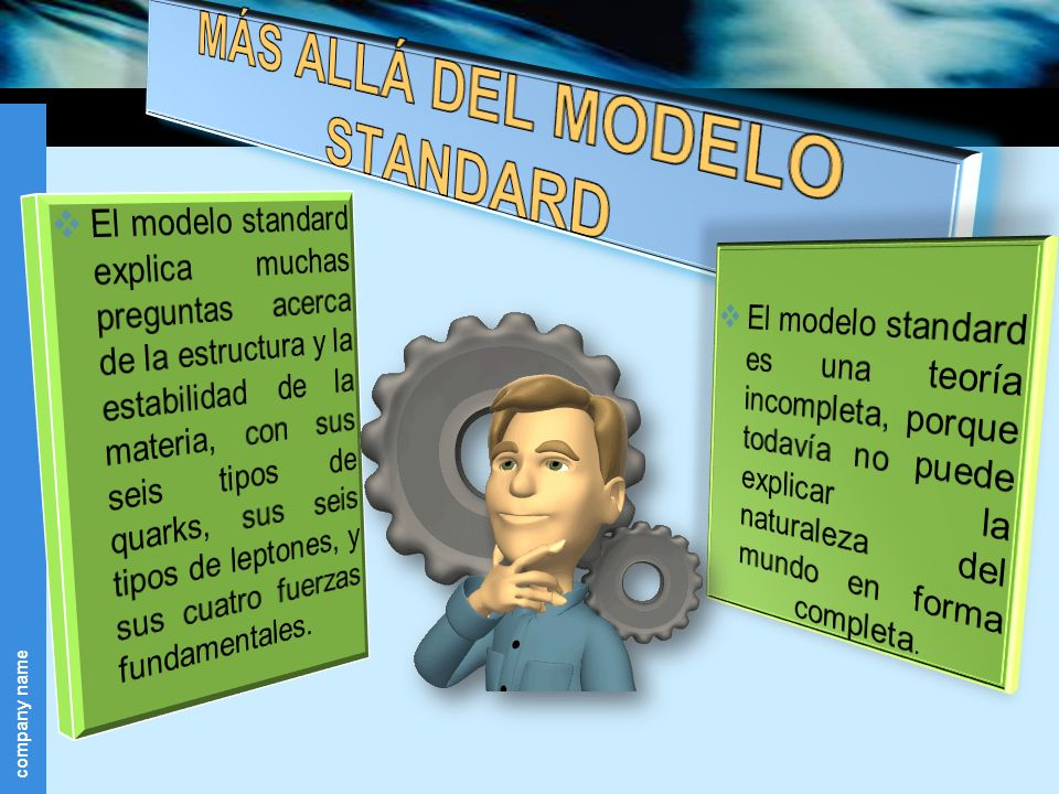 MÁS ALLÁ DEL MODELO STANDARD