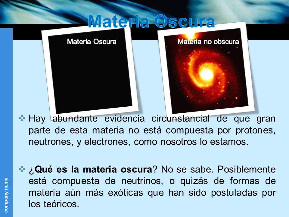 Materia Oscura Materia Oscura. Materia no obscura.