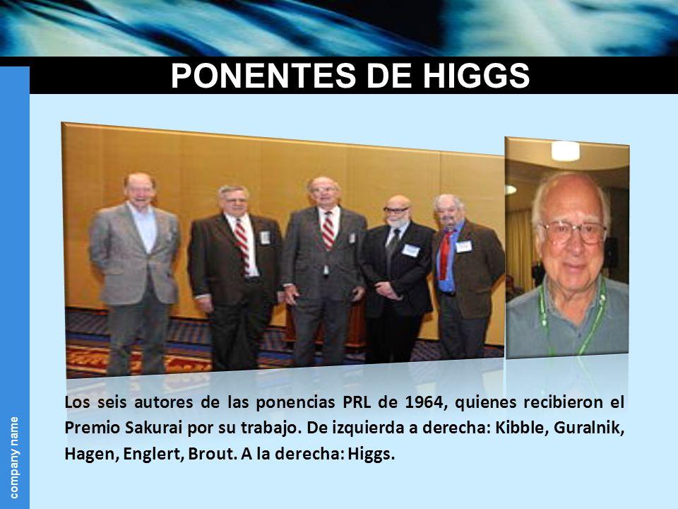 PONENTES DE HIGGS