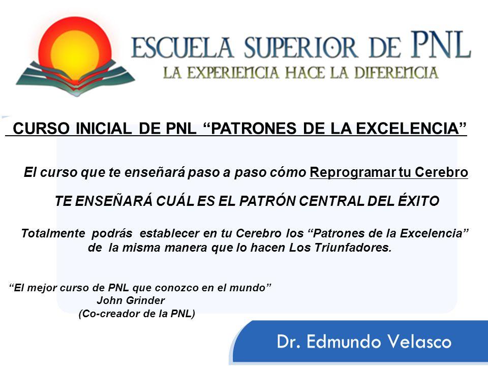 CURSO INICIAL DE PNL PATRONES DE LA EXCELENCIA
