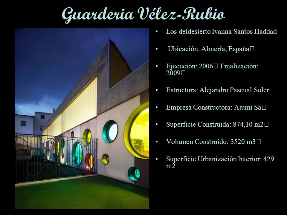 Guarderia Vélez-Rubio