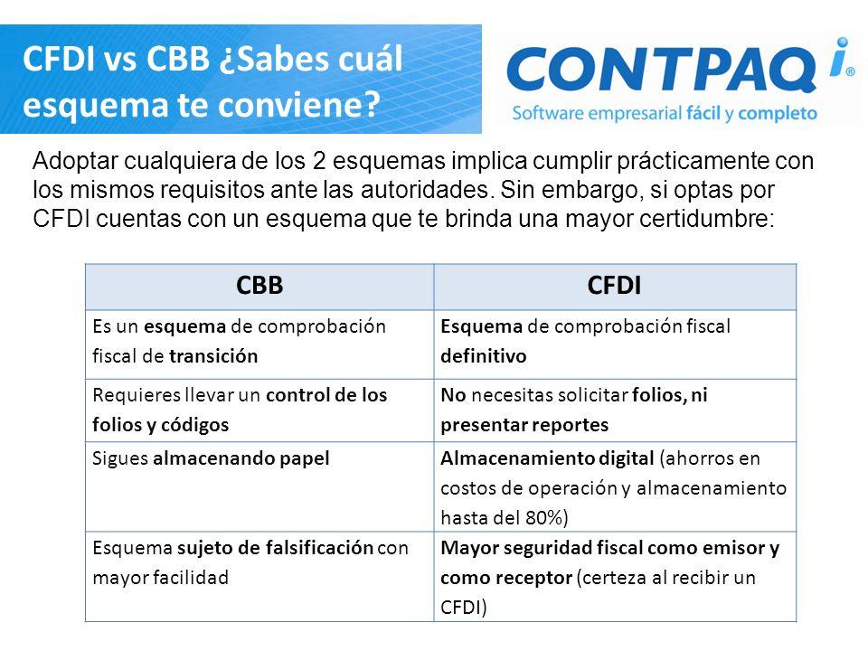 CFDI vs CBB ¿Sabes cuál esquema te conviene