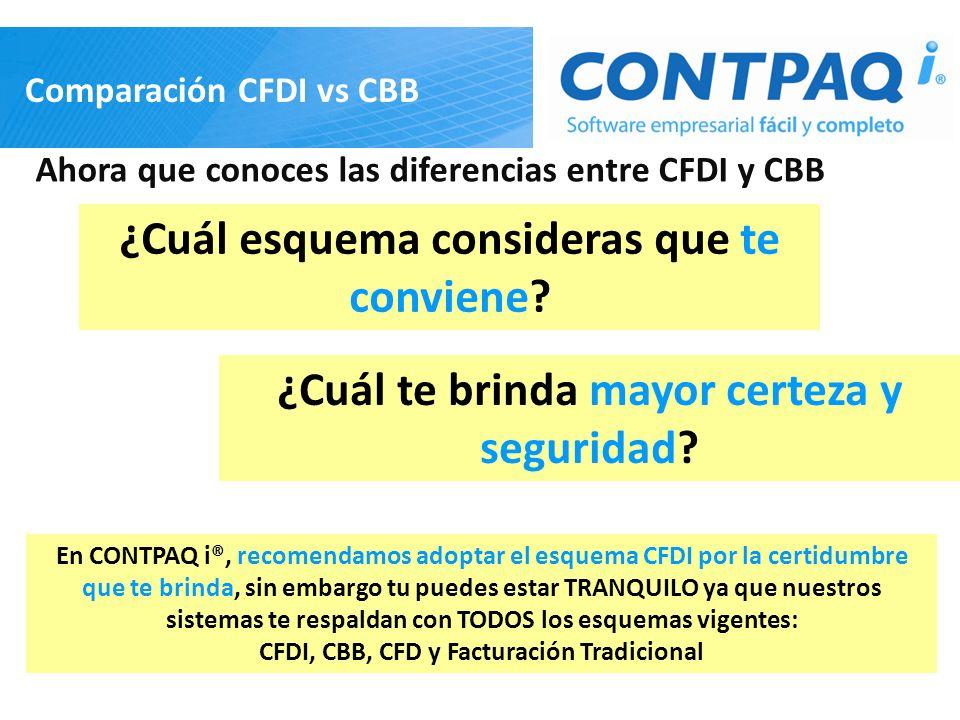 Comparación CFDI vs CBB