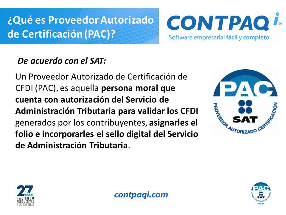 ¿Qué es Proveedor Autorizado de Certificación (PAC)