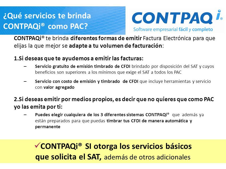 ¿Qué servicios te brinda CONTPAQi® como PAC