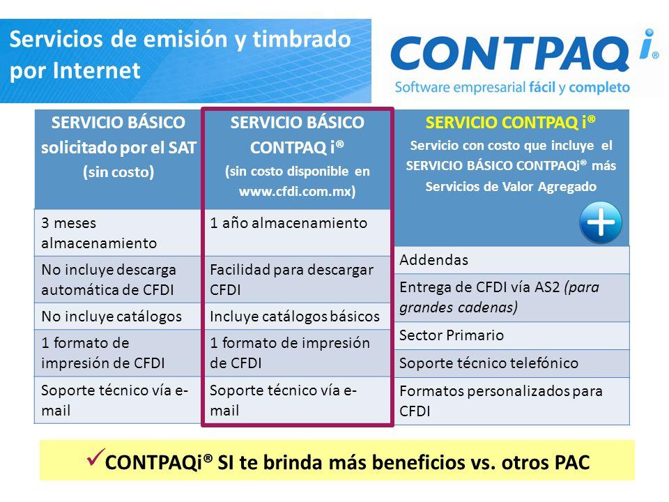 CONTPAQi® SI te brinda más beneficios vs. otros PAC