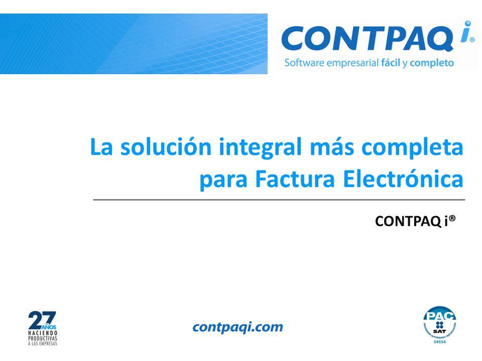 La solución integral más completa para Factura Electrónica