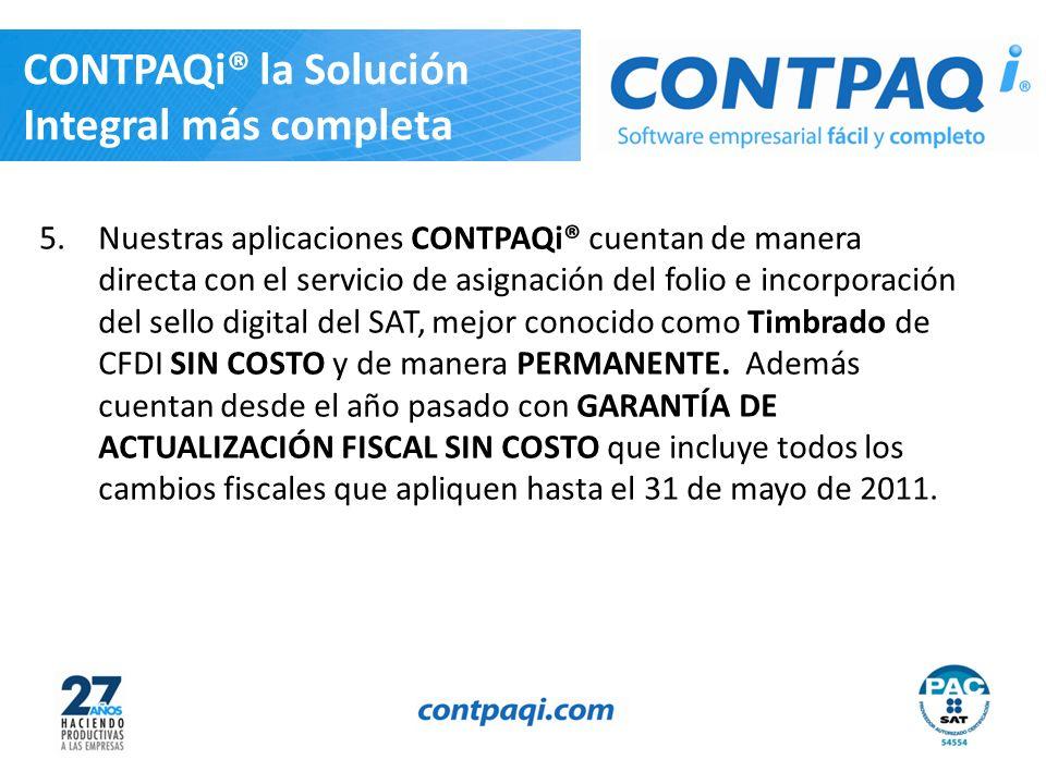 CONTPAQi® la Solución Integral más completa