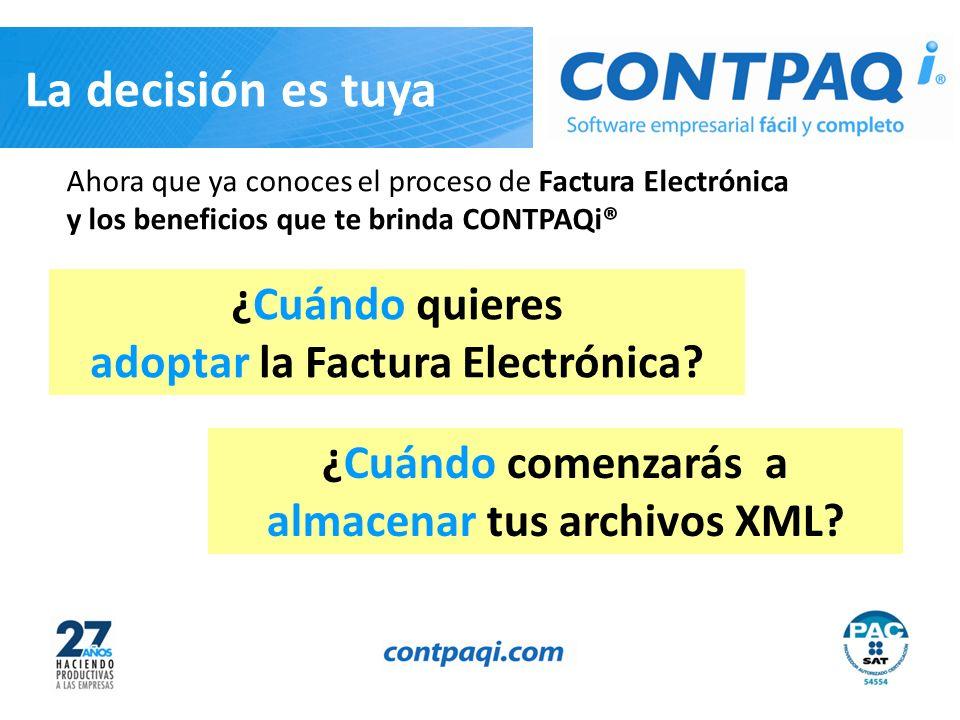 adoptar la Factura Electrónica almacenar tus archivos XML