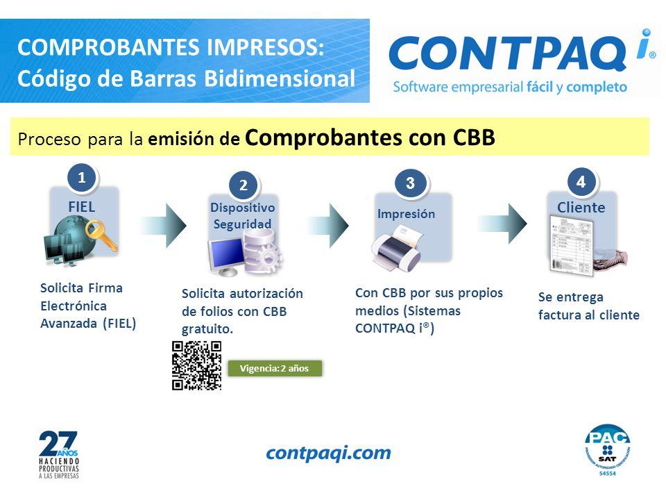 COMPROBANTES IMPRESOS: Código de Barras Bidimensional