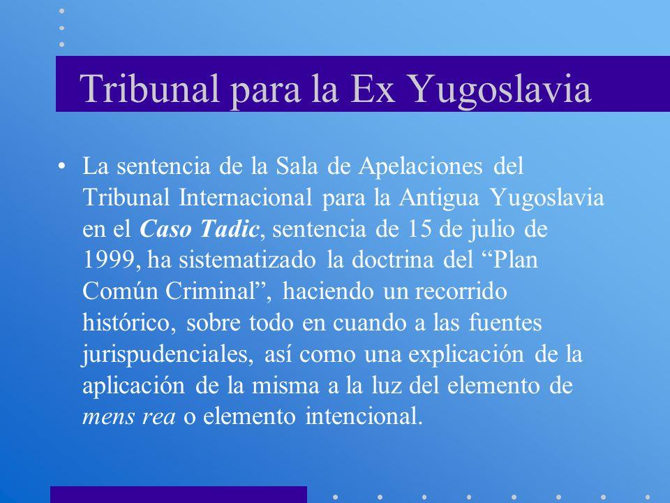 Tribunal para la Ex Yugoslavia