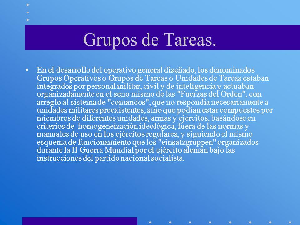 Grupos de Tareas.