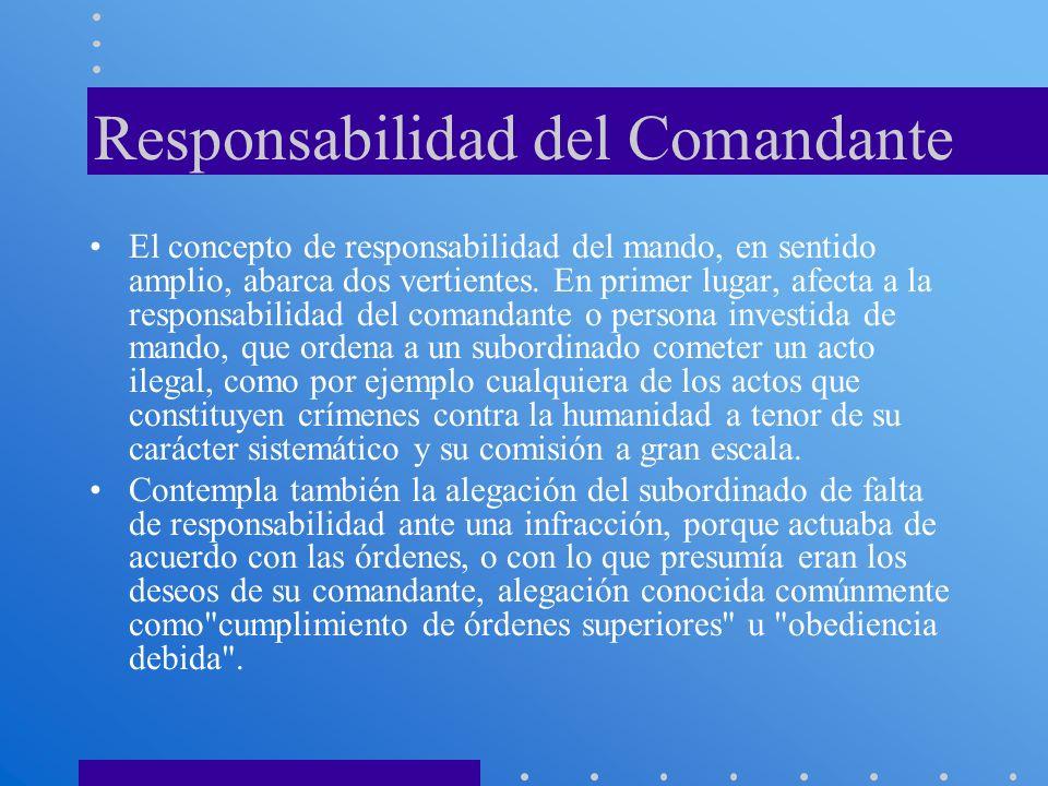 Responsabilidad del Comandante
