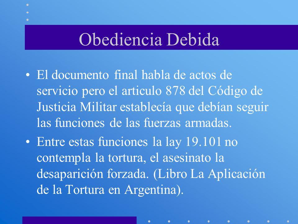 Obediencia Debida