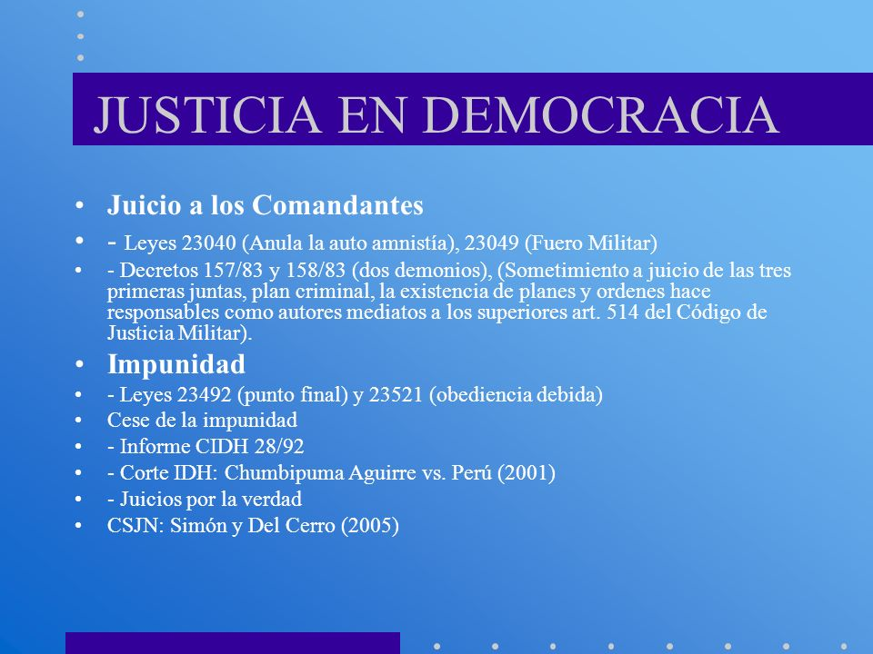 JUSTICIA EN DEMOCRACIA