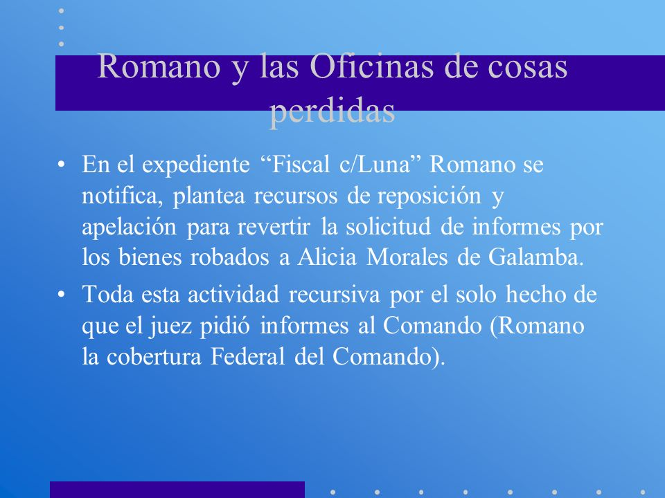 Romano y las Oficinas de cosas perdidas