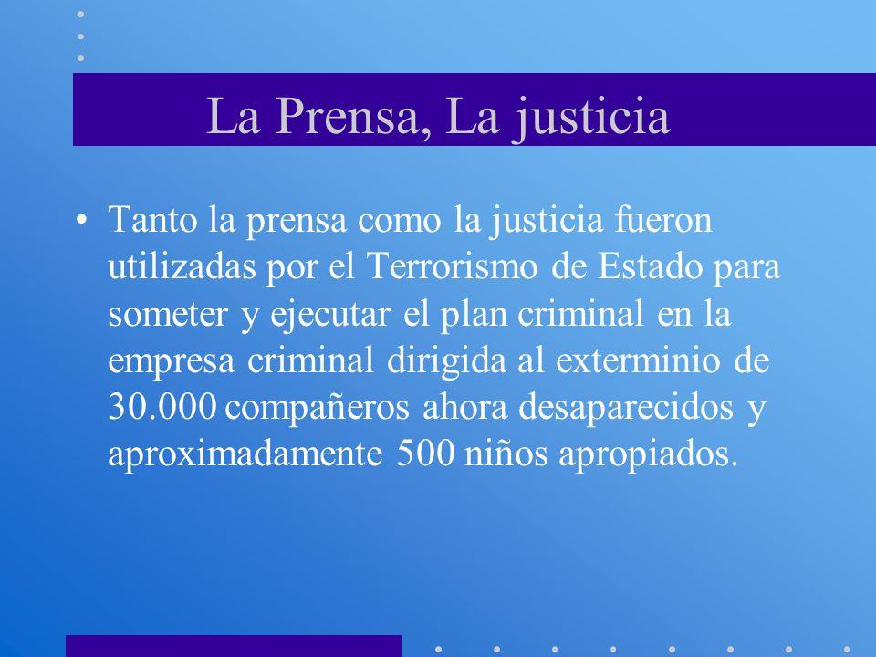 La Prensa, La justicia
