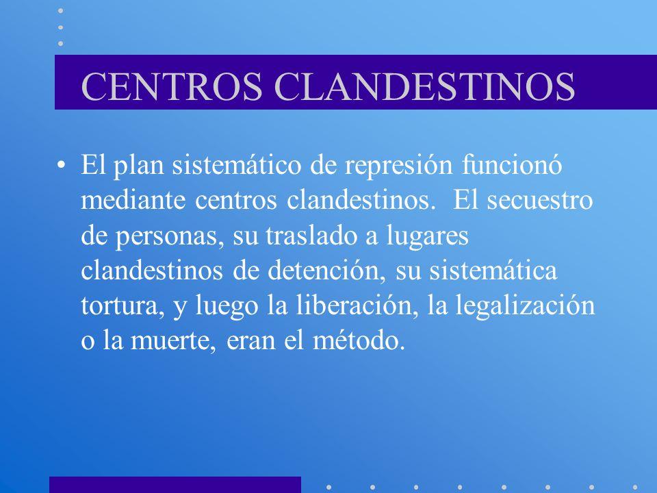 CENTROS CLANDESTINOS