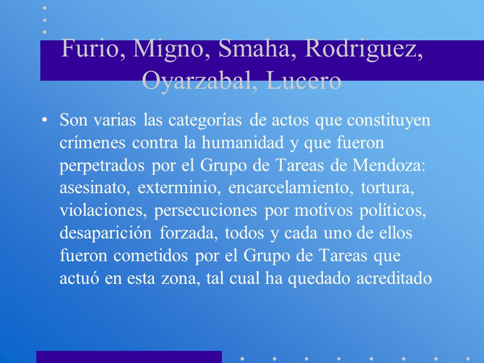 Furio, Migno, Smaha, Rodriguez, Oyarzabal, Lucero