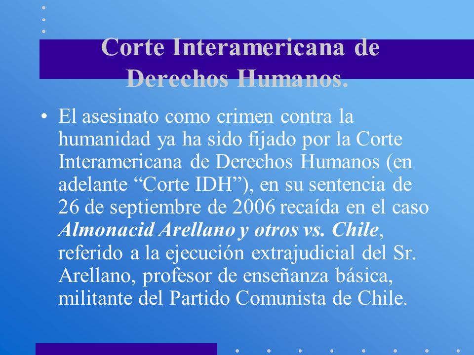 Corte Interamericana de Derechos Humanos.